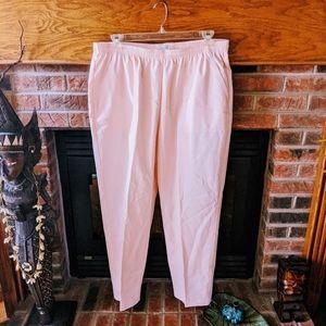 Koret brand elastic waist pink pants plus size 22